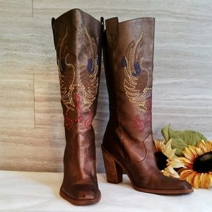 "Gianni Bini ""Neal"" Western Embroidered Boots - 10"